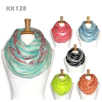 KK128 Stripes with Flower Infinity