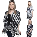 KK242 AZTECS PATTERNS RUANA