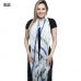 KK247 ABSTRACT PATTERNS W/ TASSEL SCARF