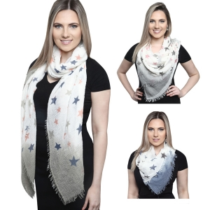 KK249 Star Patterned Scarf