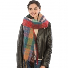 KK302 Multi-Color Bulky Scarf with Tassels