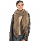 KK303 Soft Textured Long Scarf, Brown