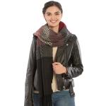 KK304 Warm Fabric Multi-colored Oblong Scarf, Black