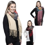 KK304 VARIOUS SHAPE AND COLORFUL LONG SCARF