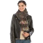 KK309 Feel Soft Multi Color Stripe Scarf, Black