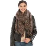 KK309 Feel Soft Multi Color Stripe Scarf, Brown