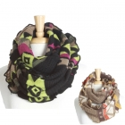 KSF103 Aztec Pattern Color Accent Infinity Scarf