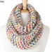 KSF107 Multicolor Knitted Infinity Scarf