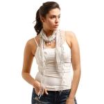 LOF270 Skinny Lace Oblong Scarf, Grey