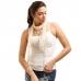 LOF270 Skinny Lace Oblong Scarf, Ivory