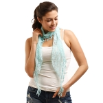 LOF270 Skinny Lace Oblong Scarf, Mint
