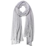 LOF481 Mesh Crochet Edge Oblong, Grey