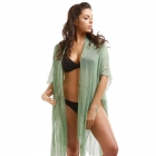 LOF489 Mesh Cover Up With Sequins, Olive