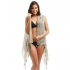 LOF708 Flamingo Vest Cover Up, Olive