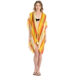 LOF800 Multi Color Striped Cover-up, Yellow