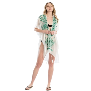LOF809 Embroidery Flower Cover-up, Green
