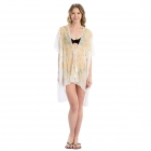 LOF809 Embroidery Flower Cover-up, Mustard