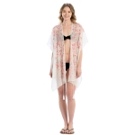 LOF809 Embroidery Flower Cover-up, Pink
