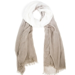 LOF812 Two Tone Oblong Scarf, Beige