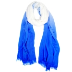 LOF812 Two Tone Oblong Scarf, Blue