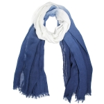 LOF812 Two Tone Oblong Scarf, Navy