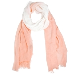 LOF812 Two Tone Oblong Scarf, Pink