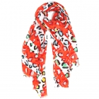 LOF816 Multicolor Leopard Print Oblong Scarf, Red