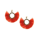 LE4451 Solid Round Tassels Earring