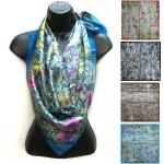 LF007 Flower Print Silk Scarf