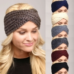 LHB002 SOLID TWISTED KNIT HEADBAND