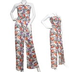 LJS3016 flower paisley pattern jumpsuit