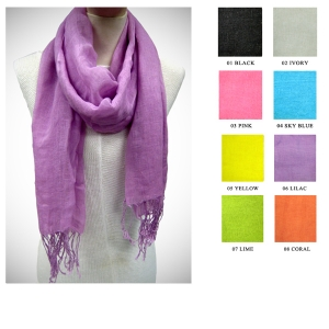 LNT694 Solid Color Scarf