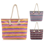 LOA007 Multi Stripe Print Beach Bag (Tote)