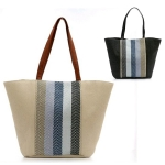 LOA033 Multi Stripes Incenter Beach Bag (Tote)