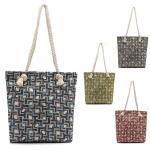 LOA036 Square Pattern Design Beach Bag