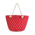LOA042 ANCHOR PATTERN BEACH BAG