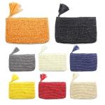 LOA050 Crochet Paper Straw Pouch W/ Tassel