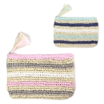 LOA053 Multi Striped Paper Straw Pouch