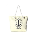 LOA065 ANCHOR PRINT BEACH BAG