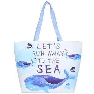 LOA102 Whale Tote Bag