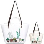 LOA113 Cactus Straw Tote Bag