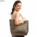 LOA117 Metallic Straw Tote Bag