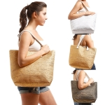 LOA117 Metallic Straw Tote Bag