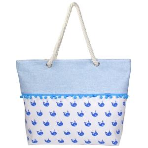 LOA125 Whale Tote Bag