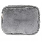 LOA160 Faux Fur Fanny Pack & Cross Body Bag, Grey