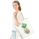 LOA177 Pineapple Flip Sequin Tote Bag