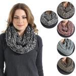 LOF174 Two Tone Knit Infinity