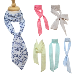 LOF283 Vine Print Tie scarf