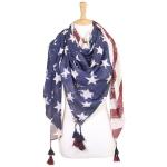 LOF302 USA Flag Square Scarf