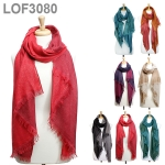 LOF3080 DOUBLE LAYER LUREX SCARF